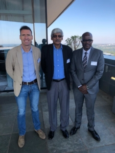 Gert Nel with Krish Naidoo and MC at the ANC Legal Research Group workshop