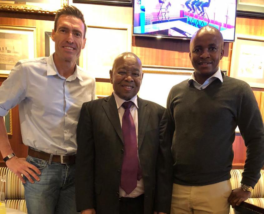 Gert Nel, Minsiter Blade Nzimande, Ngoako Mohlaloga (APRAV)